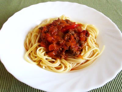 Low Carb Pasta mit Bolognese