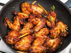 Chicken Wings aus dem Wok