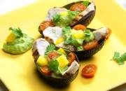 Avocado-Hähnchen-Salat mit Avocado-Dip