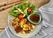 Blumenkohl Nuggets mit Salat