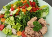 Bunter Low Carb Salat mit Thunfisch