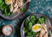 Forellenfilet an Spinat und Ei