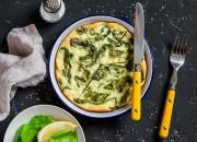 Frittata mit Spinat und Körnigen Frischkäse