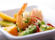 Garnelen mit Avocado-Mango-Salat