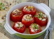 Gebackene Tomaten mit Schinken-Feta-Füllung