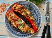 Gefüllte Spitzpaprika mit roten Linsen