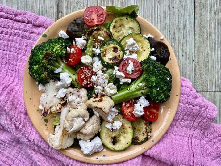 Gemüse-Pfanne mit Feta
