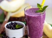 Heidelbeer - Joghurt Smoothie mit Minze