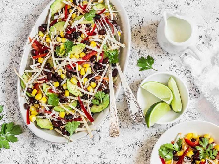 Kidney Bohnen Salat mit Avocado und Koriander