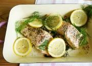 Lachs aus dem Ofen mit Zitrone