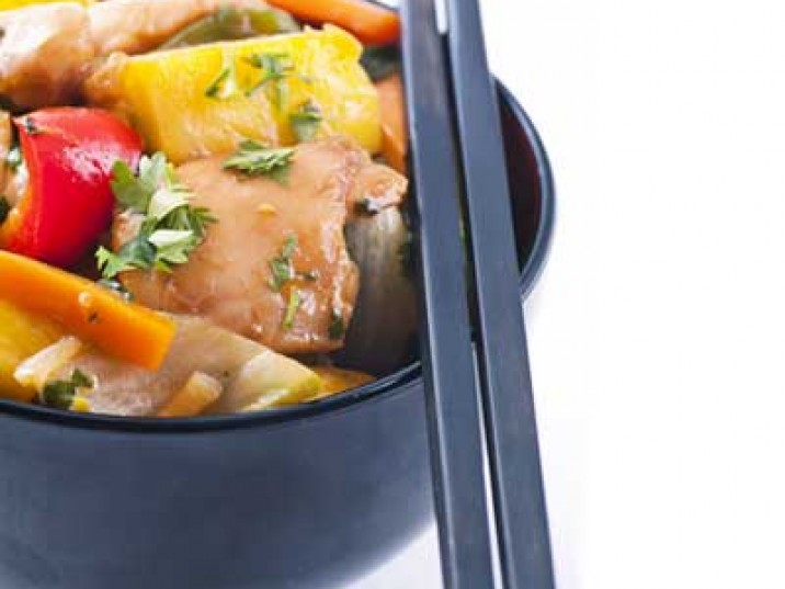 Low Carb Gemüse Wok-Hähnchen