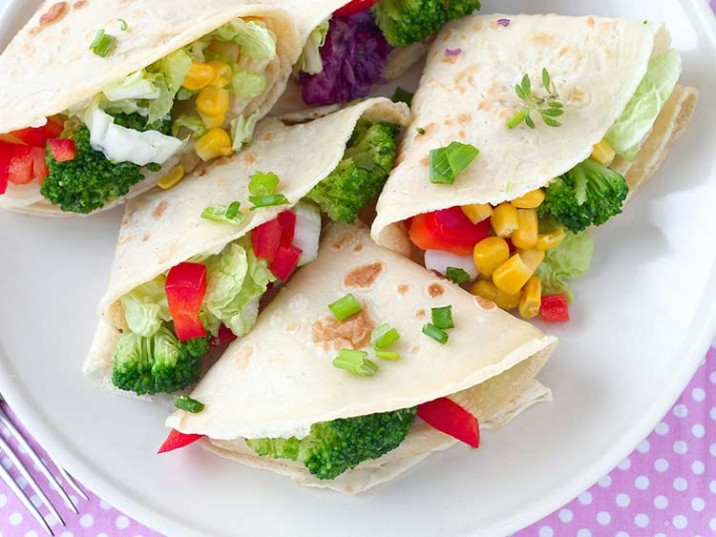 Low Carb Wraps mit Gemüse