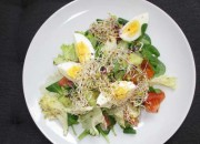 Low Carb Salat mit Sprossen