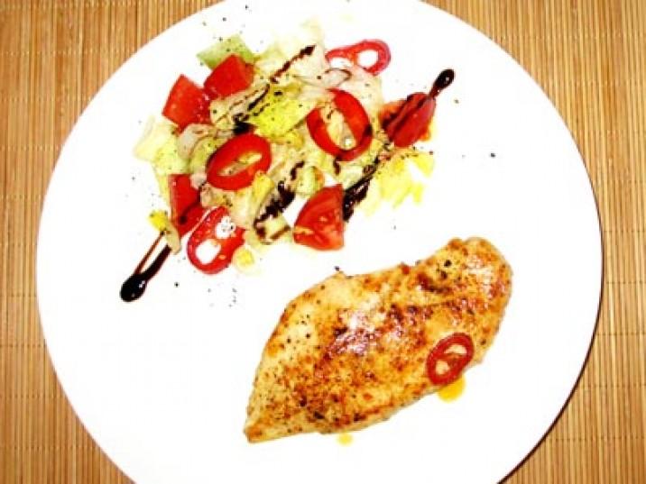 Salat + Hähnchenbrust
