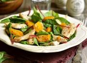 Mangoldsalat mit Hähnchen und Mango