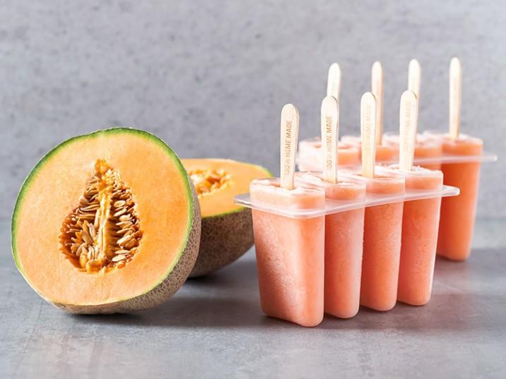 Melonen-Eis am Stiel