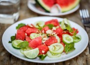 Melonensalat mit Gurke