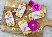 Protein Riegel mit Soja Flakes und Datteln