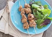 Puten-Kebab-Spieße mit Salat