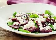 Rote Bete Salat mit Spinat und Feta