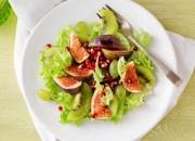 Salat mit Feigen, Kiwi und Granatapfelkerne