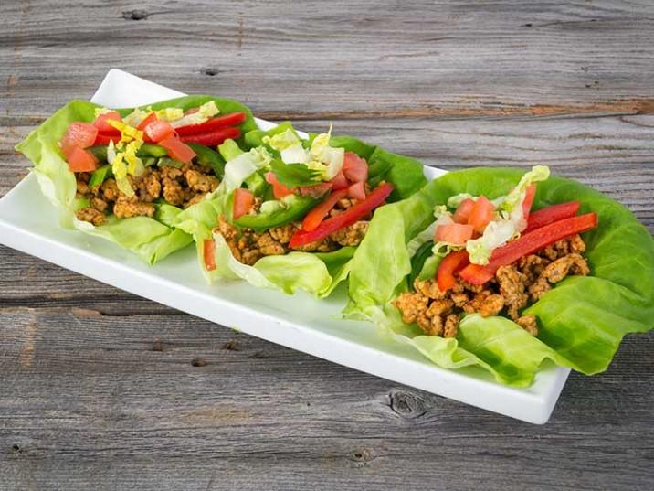 Salat-Wraps mit Hähnchenbrustfilet