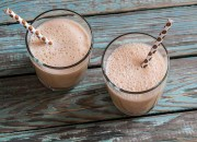 Schokoladen Shake mit Mandelmilch