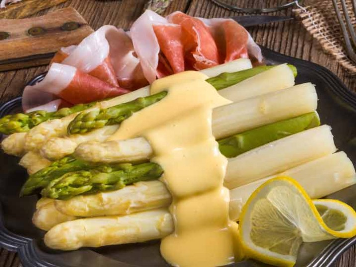 Spargel mit Parmaschinken