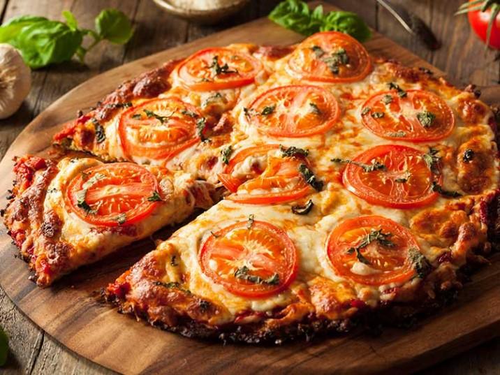Vegetarische Blumenkohl Pizza