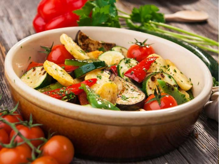 Vegetarische Gemüse Pfanne