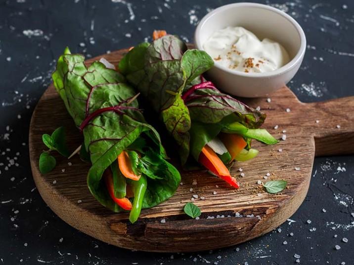 Vegetarische Gemüserollen