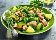 Vital Salat mit Thunfisch, Avocado, Spinat und Goji Beeren