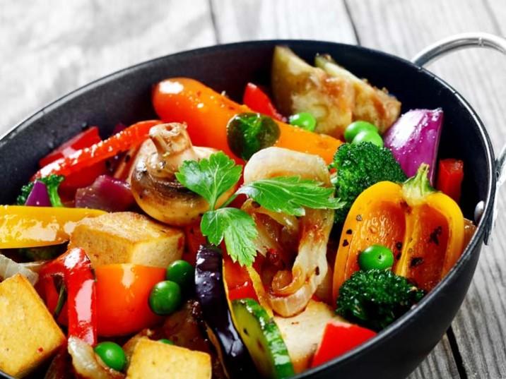 Wokgemüse mit Seitan