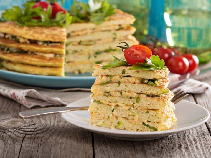 Zucchini-Omelett-Kuchen